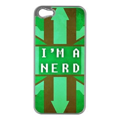 I m A Nerd Apple Iphone 5 Case (silver)