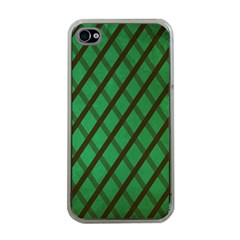 Green Stripes Apple Iphone 4 Case (clear)