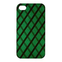 Green Stripes Apple iPhone 4/4S Premium Hardshell Case