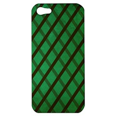 Green Stripes Apple iPhone 5 Hardshell Case