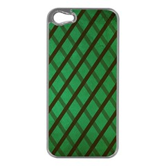 Green Stripes Apple Iphone 5 Case (silver)