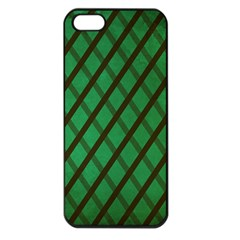 Green Stripes Apple Iphone 5 Seamless Case (black)