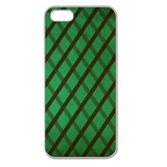 Green Stripes Apple Seamless Iphone 5 Case (clear)