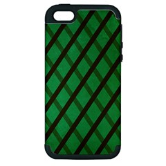 Green Stripes Apple Iphone 5 Hardshell Case (pc+silicone)