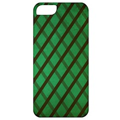 Green Stripes Apple Iphone 5 Classic Hardshell Case