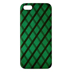 Green Stripes Iphone 5 Premium Hardshell Case