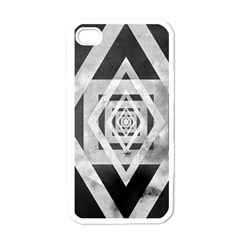 Geometric B&w Apple Iphone 4 Case (white)
