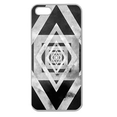 Geometric B&w Apple Seamless Iphone 5 Case (clear)