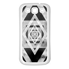 Geometric B&W Samsung Galaxy S3 Back Case (White)