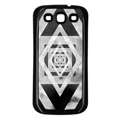 Geometric B&w Samsung Galaxy S3 Back Case (black)