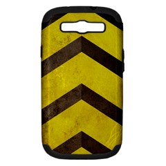 Caution Samsung Galaxy S Iii Hardshell Case (pc+silicone)