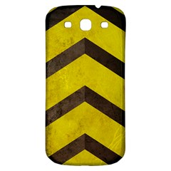 Caution Samsung Galaxy S3 S III Classic Hardshell Back Case