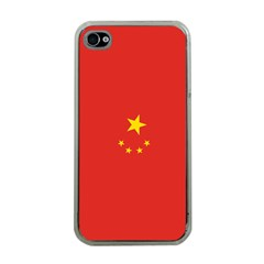 Chinese Flag Apple iPhone 4 Case (Clear)