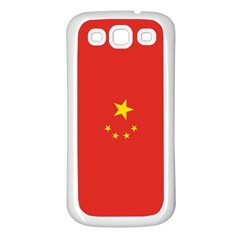 Chinese Flag Samsung Galaxy S3 Back Case (white)