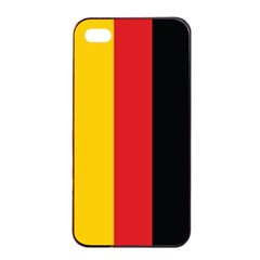 German Flag Apple iPhone 4/4s Seamless Case (Black)