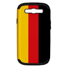 German Flag Samsung Galaxy S Iii Hardshell Case (pc+silicone)