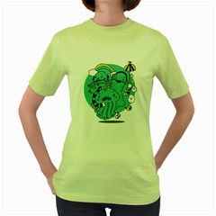 Monsters Womens  T Shirt (green)