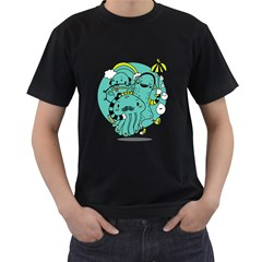 Monsters Mens' Two Sided T Shirt (black)