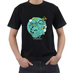 Monsters Mens' Two Sided T-shirt (Black) Front