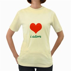 i adore T-Shirt  Womens  T-shirt (Yellow)