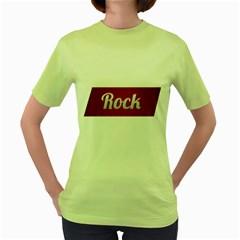 Rock Tee! Womens  T Shirt (green)