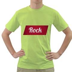 Rock Tee! Mens  T-shirt (Green)