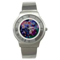 Multi-colour Stainless Steel Watch (Unisex)