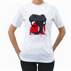 Hipsterphant Womens  T Shirt (white)