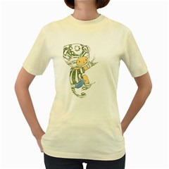 Charlie  Womens  T-shirt (Yellow)