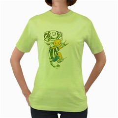 Charlie Womens  T-shirt (Green)