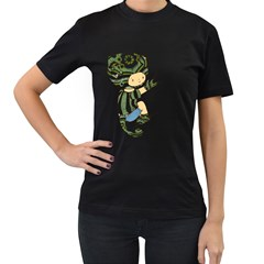 Charlie Womens' Two Sided T-shirt (Black)