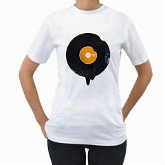 Melting Song Womens  T-shirt (White)
