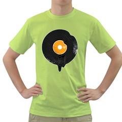Melting Song Mens  T Shirt (green)