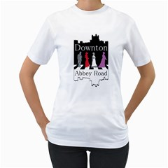 Downton Abbey Road Womens  T Shirt (white)