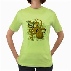 Craken Womens  T-shirt (Green)