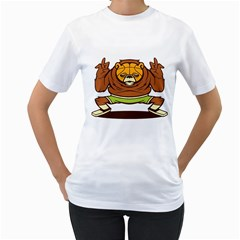 Bear Baller  Womens  T-shirt (White)