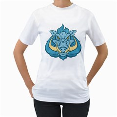 Benny Boar Womens  T-shirt (White)