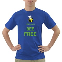 Keep Calm And Bee Free  Mens' T Shirt (colored)