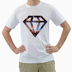 Cosmic Diamond Mens  T-shirt (White)