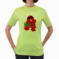 Not the droid you are looking for. Womens  T-shirt (Green)