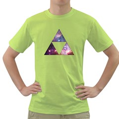 Cosmic Triforce Mens  T-shirt (Green)