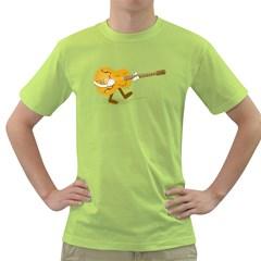 Solo Guitar Mens  T Shirt (green)