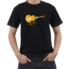 Solo Guitar Mens' Two Sided T-shirt (Black)