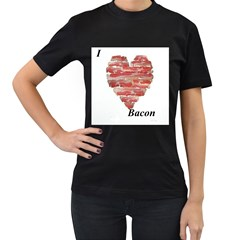 bacon Womens' T-shirt (Black)