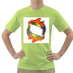 ILLUSION OF KOI Mens  T-shirt (Green)