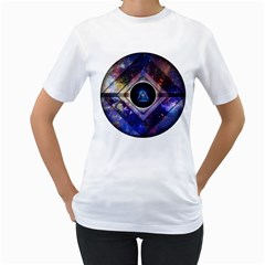 Center Of Existence Expanded Womens  T Shirt (white)