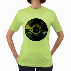 Center of Existence EXPANDED Womens  T-shirt (Green)