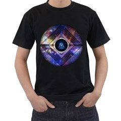 Center of Existence EXPANDED Mens' Two Sided T-shirt (Black)