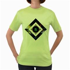 Center of Existence Womens  T-shirt (Green)