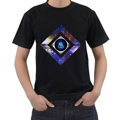Center of Existence Mens' Two Sided T-shirt (Black)